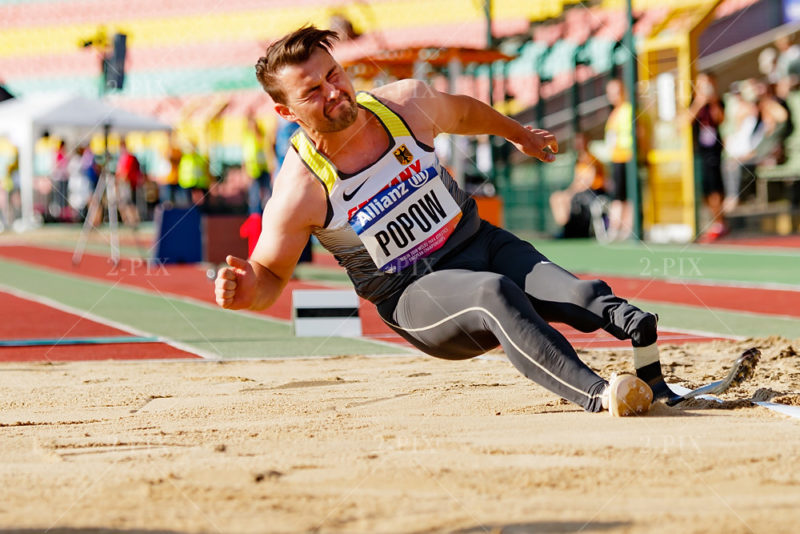 POPOW, Heinrich (GER) while European Championships Para- Athletics Berlin 2018 at Berlin - Friedrich-Ludwig-Jahn-Sportpark, 2018.08.21 in Germany. Photo: Binh Truong/DBS